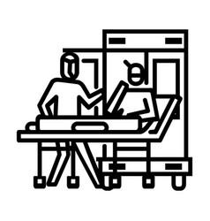 Pickup to ambulance icon symbol activity vector