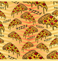 pizza pattern vector image