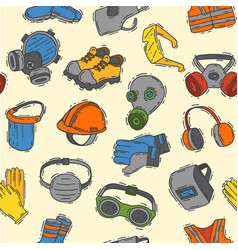 Protection clothing safety industry icons vector