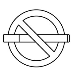public no smoking icon outline style vector image