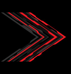 red grey arrow futuristic direction on black vector image