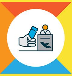 registration board icon colored line symbol vector image