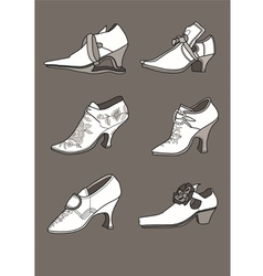 Shoes from the 17th century vector