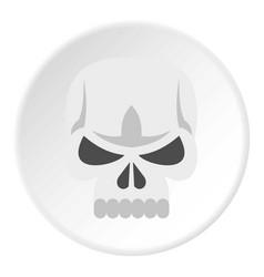 skull icon circle vector image