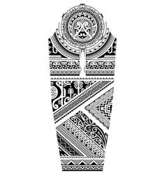 sleeve tattoo polynesian style vector image
