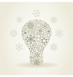 Snowflake a bulb vector