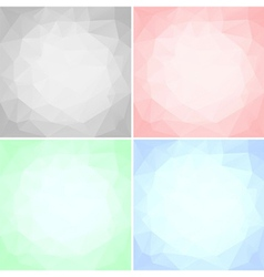 Square triangular textures vector image