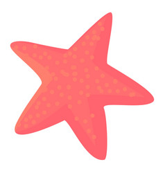 starfish icon cartoon style vector image