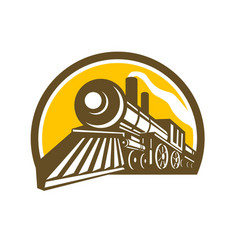 steam locomotive train icon vector image