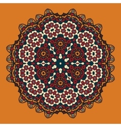 Stylized Oriental Mandala Design for Flayer vector image