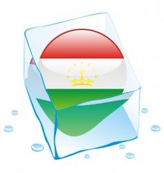 Tajikistan flag vector image vector image