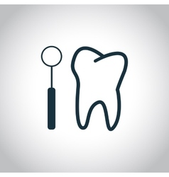 Tooth checkup icon vector