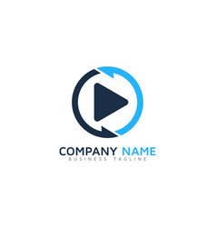 transfer video logo icon design vector image
