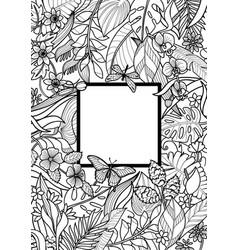 tropical frame mock up vector image