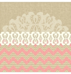 two seamless pattern and lace trim vector image