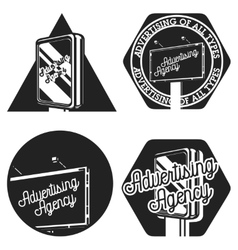 vintage advertising agency emblems vector image