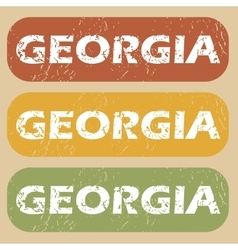 Vintage Georgia stamp set vector