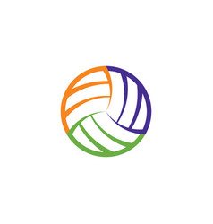 volleyball ball logo icon sign element vector image