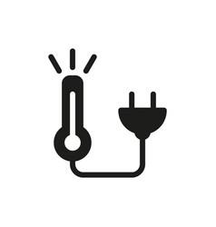 warm energy icon icon on white background vector image