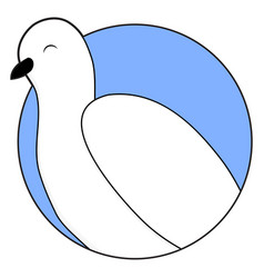 white dove sticker icon vector image
