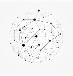 wireframe mesh polygonal sphere network line vector image