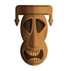 wood idol icon cartoon style vector image