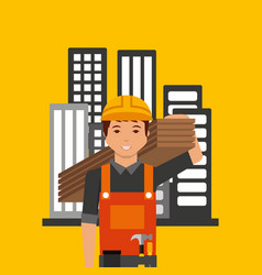 construction professional avatar character vector image