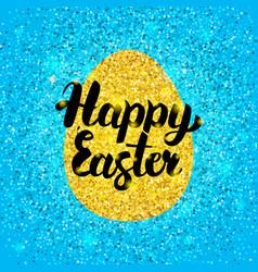 happy easter glitter design vector image