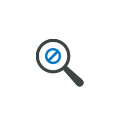 magnifying glass icon ban icon vector image