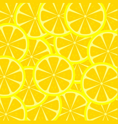 slices of lemon texture vector image