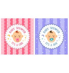 baby shower party invitation template set vector image