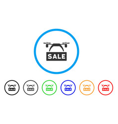 drone sale banner rounded icon vector image