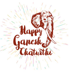 happy ganesh chaturthi vector image vector image