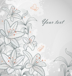 lily background vector image vector image