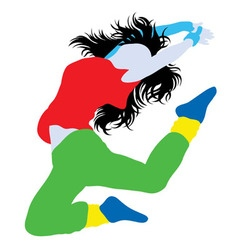 Modern Dance Happy Hip Hop Silhouette vector image vector image