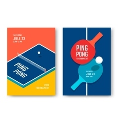 Ping-pong posters design vector image