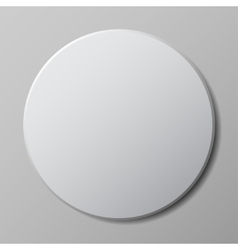 round button with shadow vector image