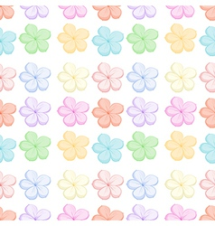Seamless floral design vector image vector image