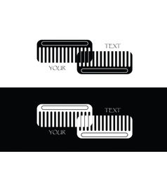 set of comb vector image vector image