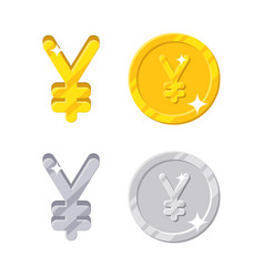 yen yuan sign vector image