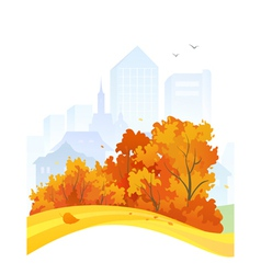 Autumn city design vector image
