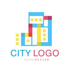 city logo original design abstract city building vector image vector image