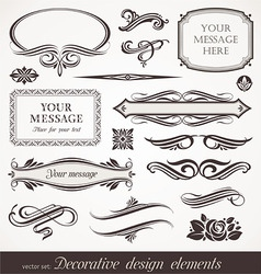 design elements page decor vector image vector image