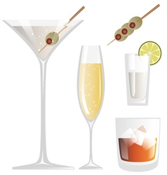 Drink glass vector
