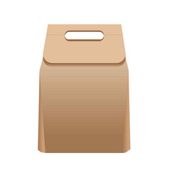 full simple paper bag with handle isolated vector image vector image