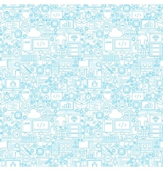 Line Programming White Seamless Pattern vector image vector image