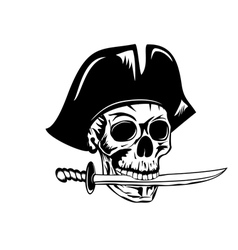 Pirate and dagger vector