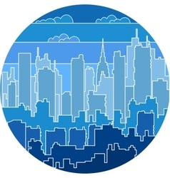 Print urban landscape vector image vector image