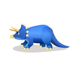 Styracosaurus spiked lizard isolated on white vector