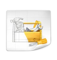 Tool box drawing vector image